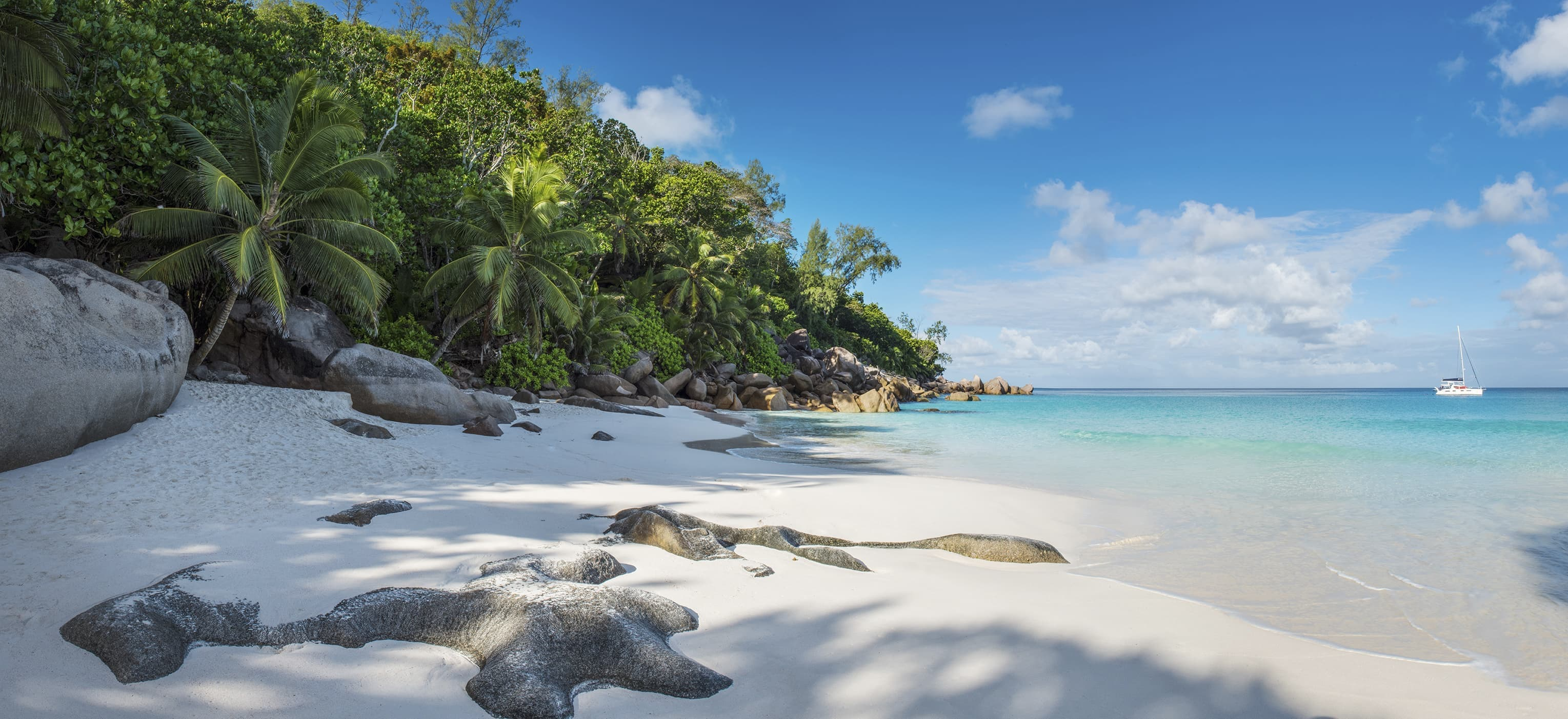 Grand anse beach seychelles map
