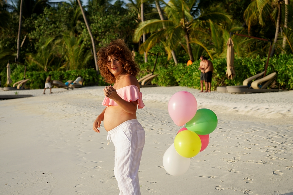 Aline on her Babymoon at Constance Halaveli Maldives