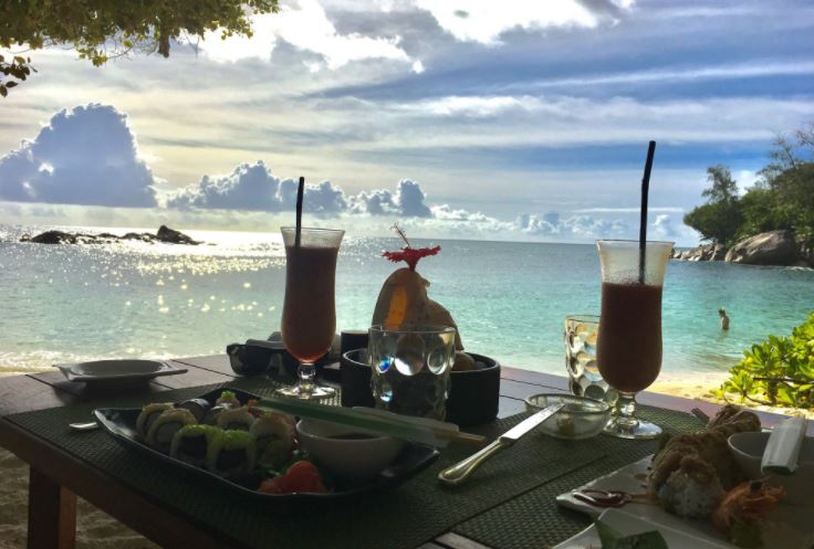 Lunch with a view at Constance Lemuria Seychelles