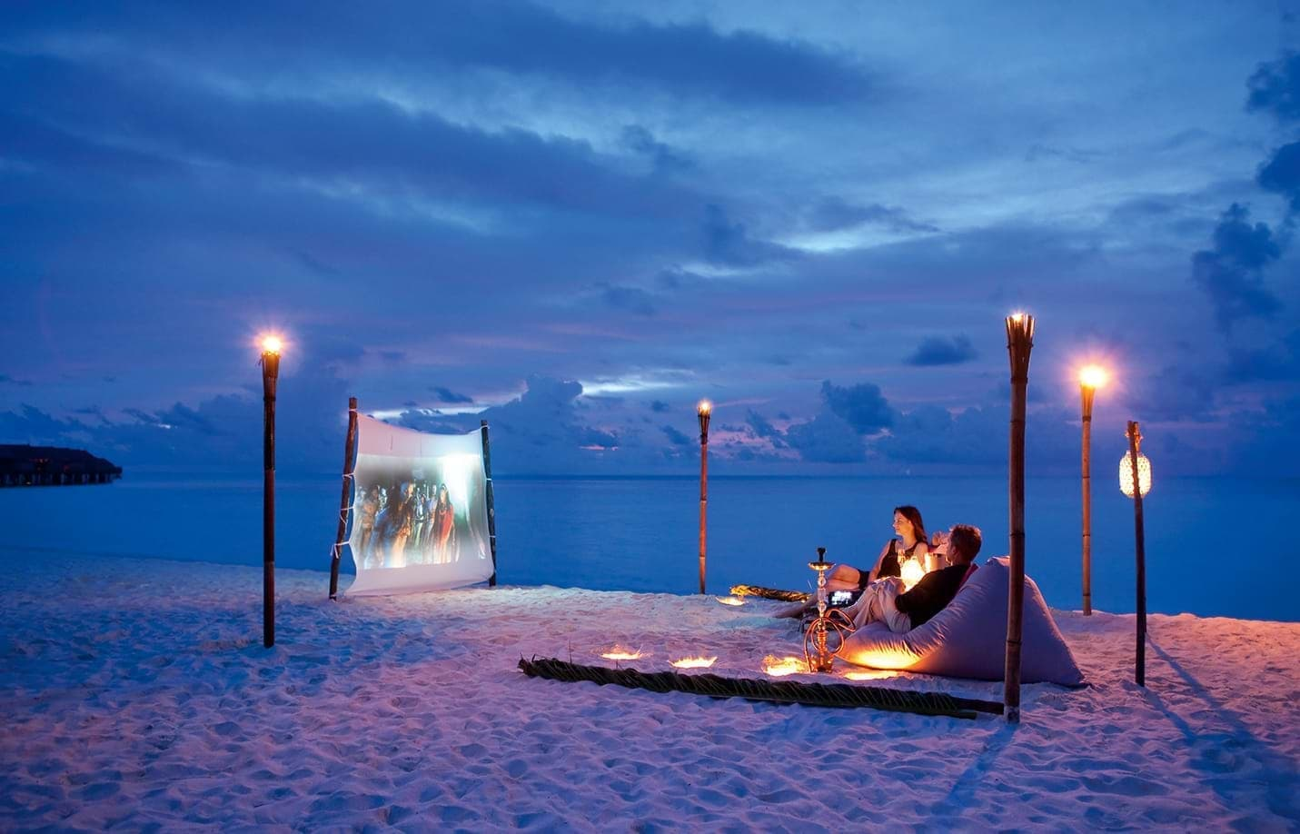 Romantic movie on the beach