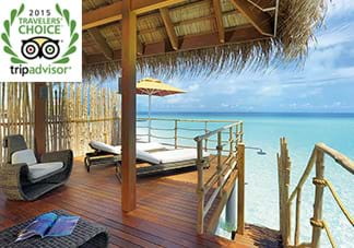 "Constance Moofushi Maldives makes the list of the Top 25 Hotels in the World in the ""Trip Advisor's Traveler's Choice Awards 2015"""